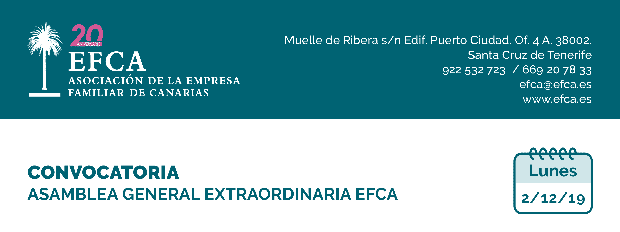 Convocatoria de Junta General EFCA