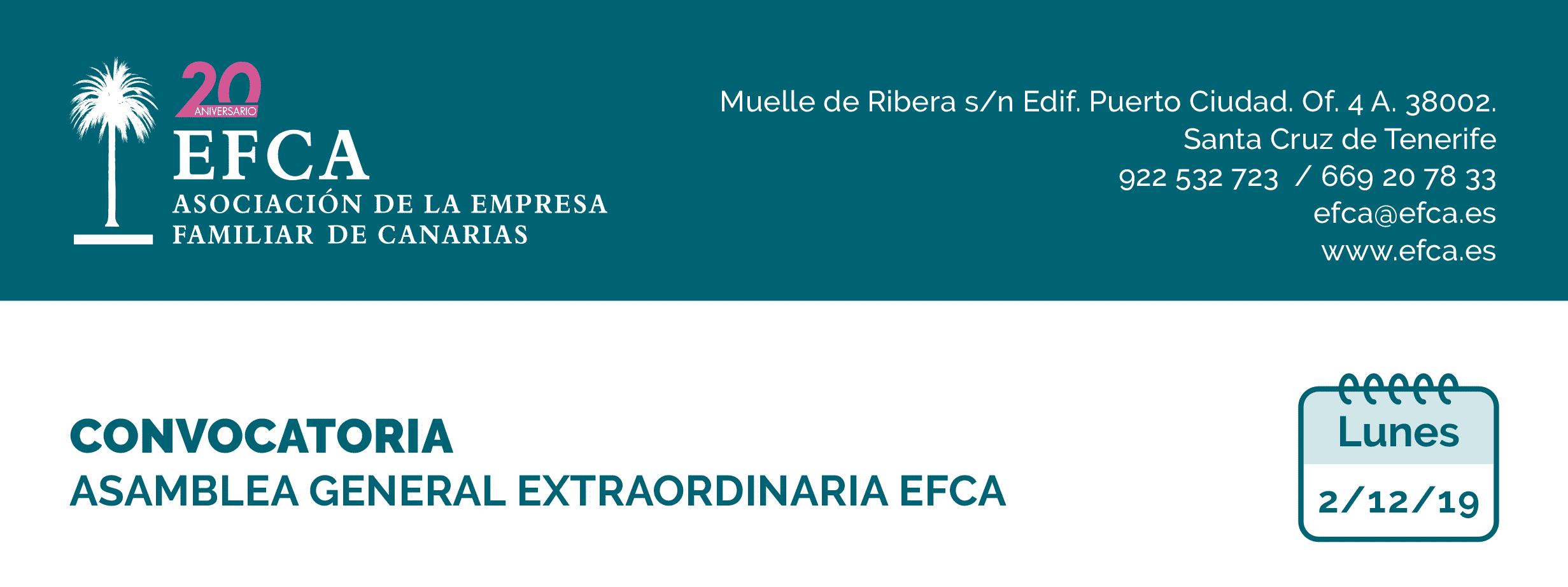 Convocatoria de Junta General EFCA