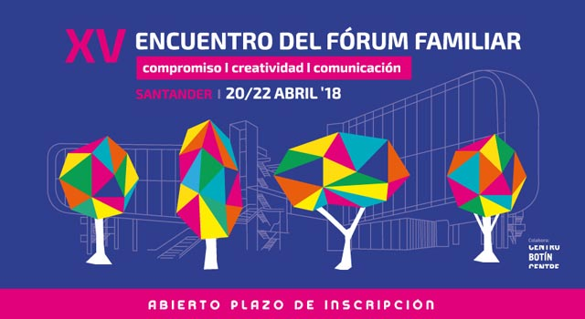 Cabecera del cartel del XV Encuentro del Forum Familiar