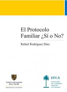 Portada dela publicación El protocolo Familiar